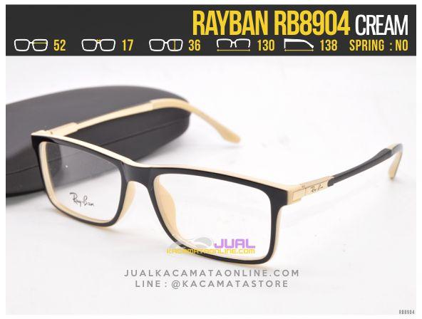 Gambar Frame Kacamata Baca Rayban RB8904 Cream