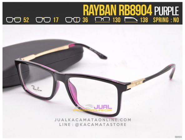 Model Frame Kacamata Baca Rayban RB8904 Purple