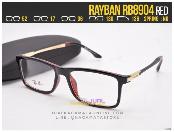 Jual Frame Kacamata Baca Rayban RB8904 Red