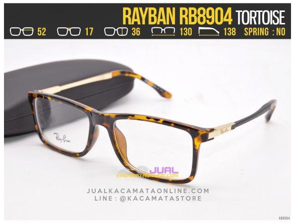 Jual Frame Kacamata Baca Rayban RB8904 Tortoise