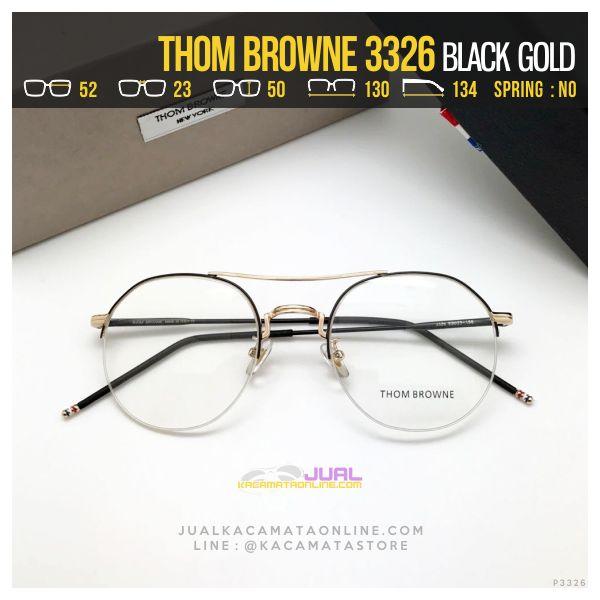 Model Frame Kacamata Korea Thom Browne 3326 Black Gold