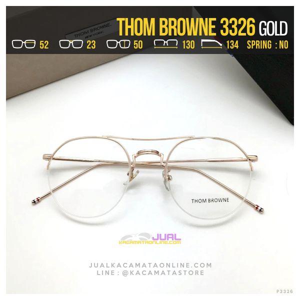 Jual Frame Kacamata Korea Thom Browne 3326 Gold