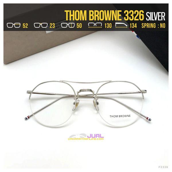 Trend Frame Kacamata Korea Thom Browne 3326 Silver