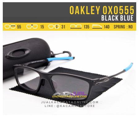 Model Frame Kacamata Minus Oakley OX0555 Black Blue