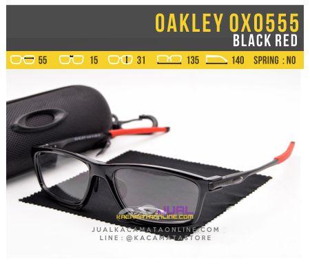 Jual Frame Kacamata Minus Oakley OX0555 Black Red