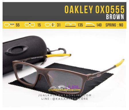 Gambar Frame Kacamata Minus Oakley OX0555 Brown