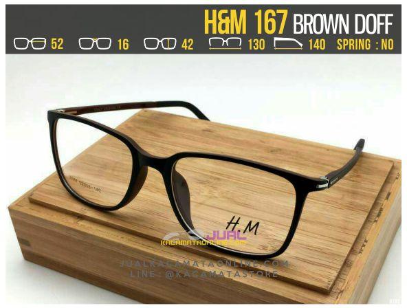 Jual Frame Kacamata Optik H&M 167 Brown Doff
