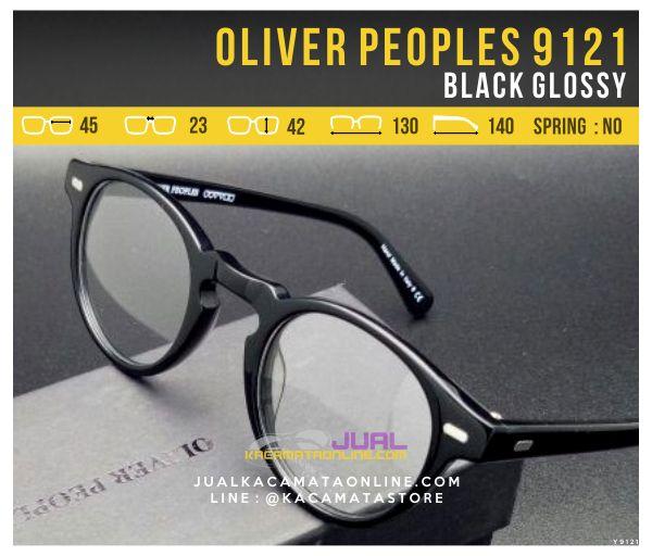 Model Frame Kacamata Optik Oliver Peoples 9121 Black Glossy