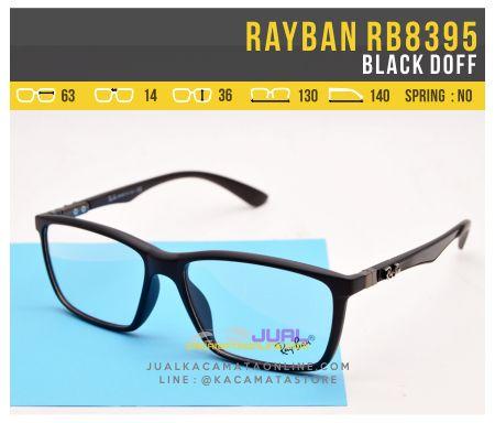 Jual Frame Kacamata Rayban RB8395 Black Doff