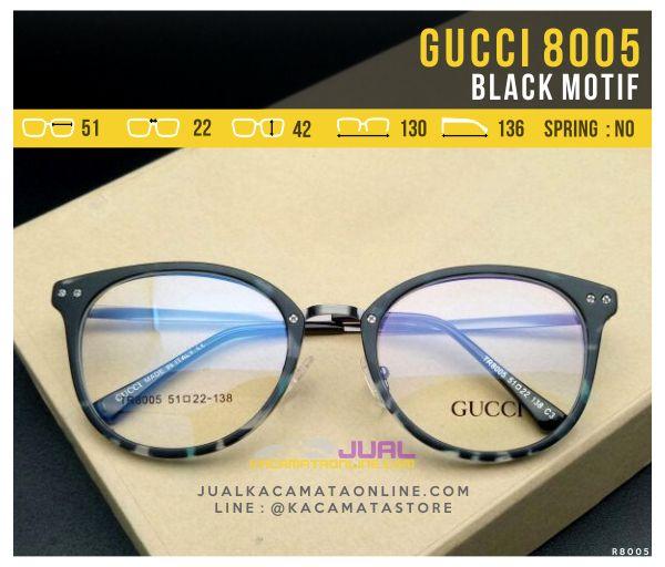 Harga Frame Kacamata Wanita Gucci 8005 Black Motif