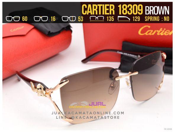 Gambar Kacamata Cartier 18309 Brown