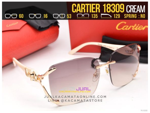 Model Kacamata Cartier 18309 Cream