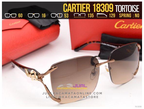 Jual Kacamata Cartier 18309 Tortoise