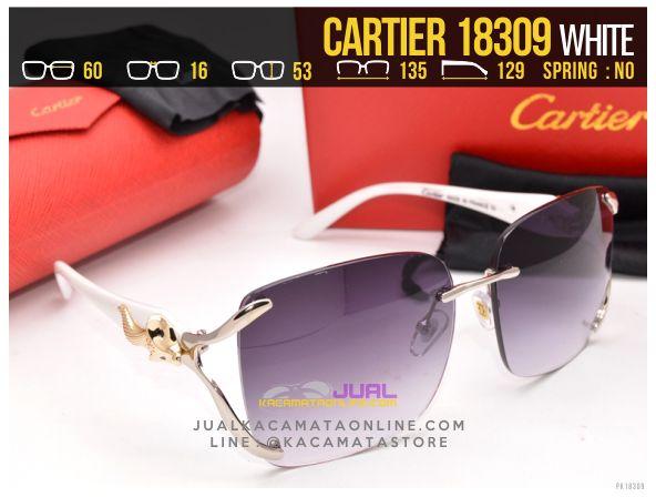 harga Kacamata Cartier 18309 White
