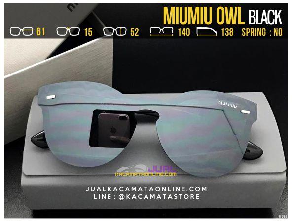 Model Kacamata Cewek MiuMiu Owl Black