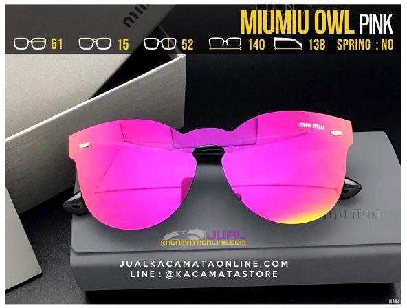 Grosir Kacamata Cewek MiuMiu Owl Pink