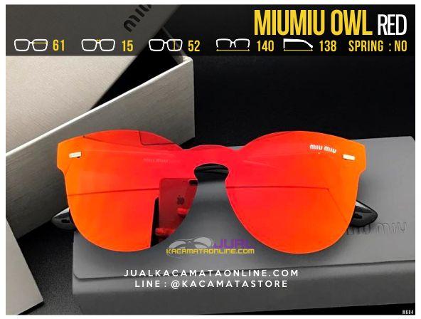 Trend Kacamata Cewek MiuMiu Owl Red