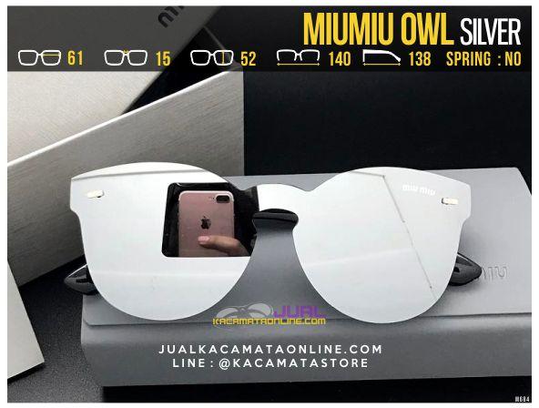 Harga Kacamata Cewek MiuMiu Owl Silver