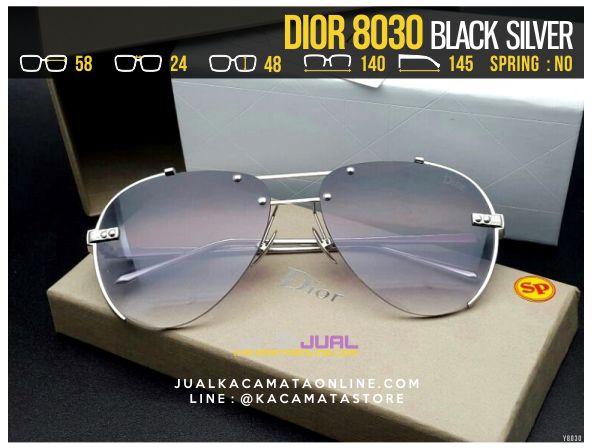 Grosir Kacamata Cewek Terbaru 2017 Dior 8030 Black Silver