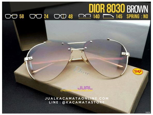 Harga Kacamata Cewek Terbaru 2017 Dior 8030 Brown
