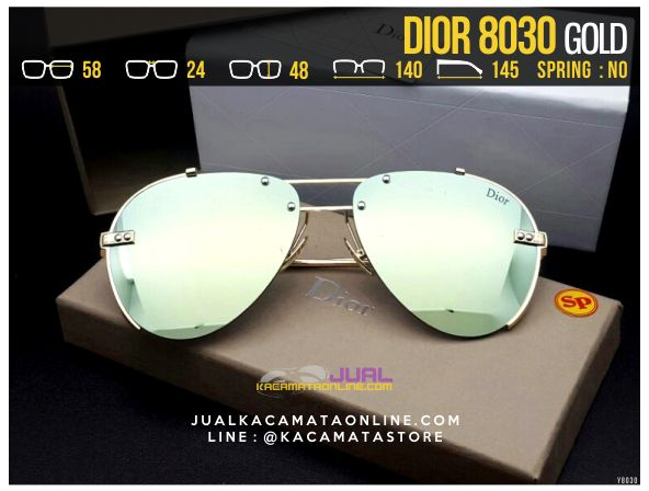Model Kacamata Cewek Terbaru 2017 Dior 8030 Gold