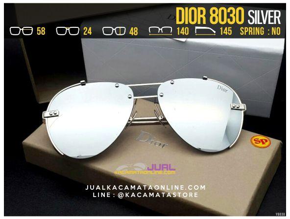 Jual Kacamata Cewek Terbaru 2017 Dior 8030 Silver