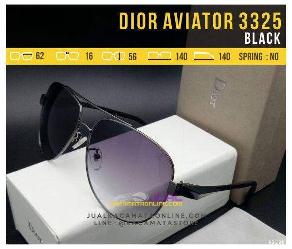 gambar Kacamata Dior Aviator 3325 Black