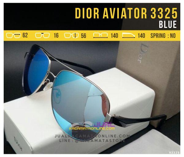 Harga Kacamata Dior Aviator 3325 Blue