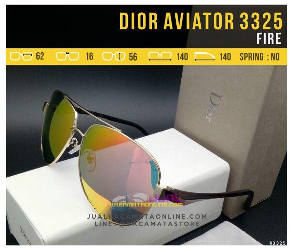 Jual Kacamata Dior Aviator 3325 Fire