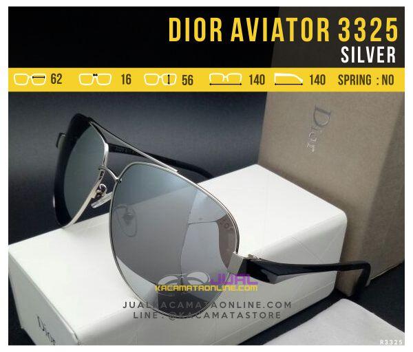 Grosir Kacamata Dior Aviator 3325 Silver