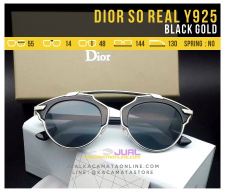 Harga Kacamata Dior So Real Black Gold