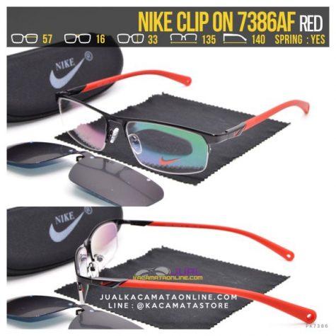 Jual Kacamata Double Lensa Nike ClipOn 7386 Red