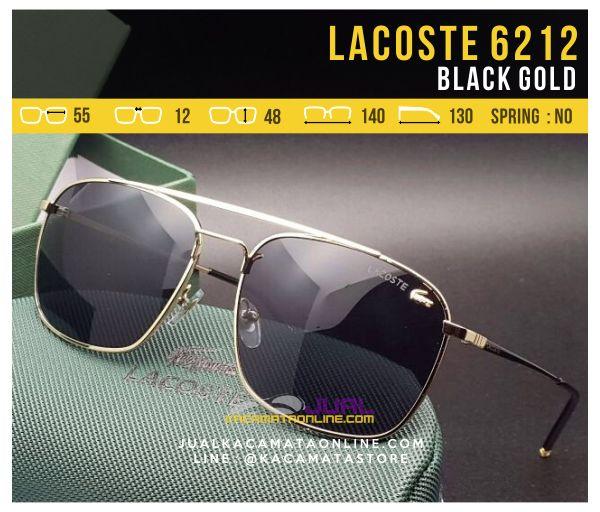 Grosir Kacamata Gaya Lacoste 6212 Black Gold