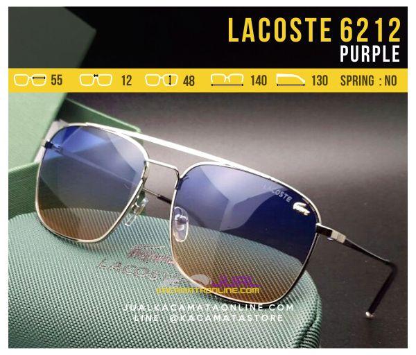 Jual Kacamata Gaya Lacoste 6212 Purple