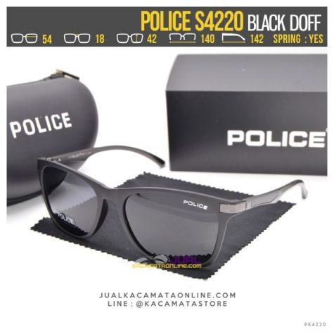 Gambar Kacamata Gaya Police S4220 Black Doff