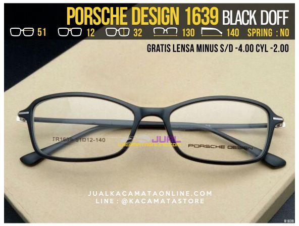 Kacamata Gratis Lensa Porsche Design 1639 Black Doff