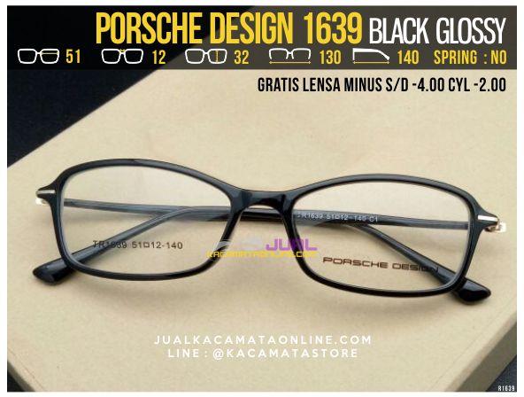 Kacamata Gratis Lensa Porsche Design 1639 Black Glossy
