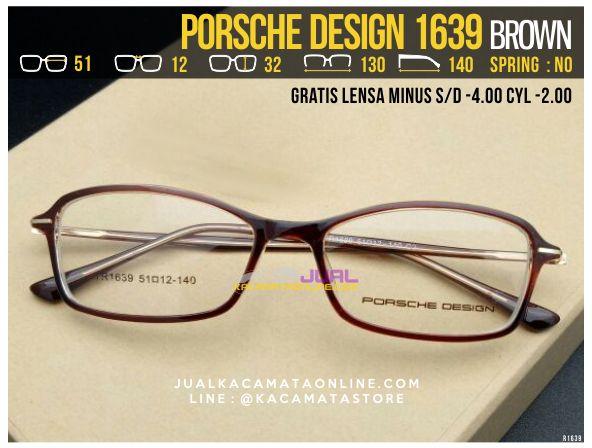Kacamata Gratis Lensa Porsche Design 1639 Brown