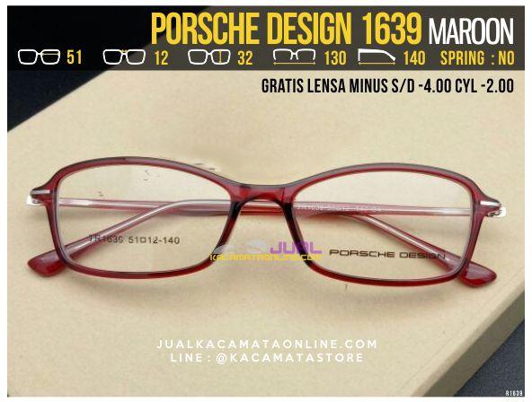 Jual Kacamata Gratis Lensa Porsche Design 1639 Maroon