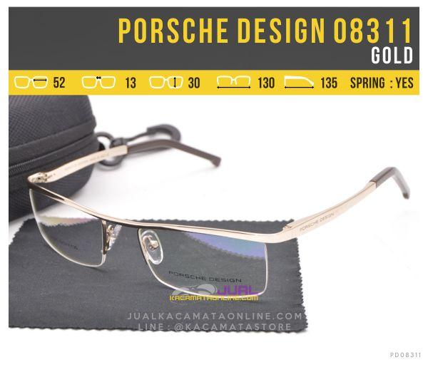 Trend Kacamata Half Frame Porsche Design 08311 Gold