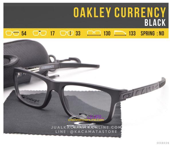 Harga Kacamata Minus Murah Oakley Currency Black