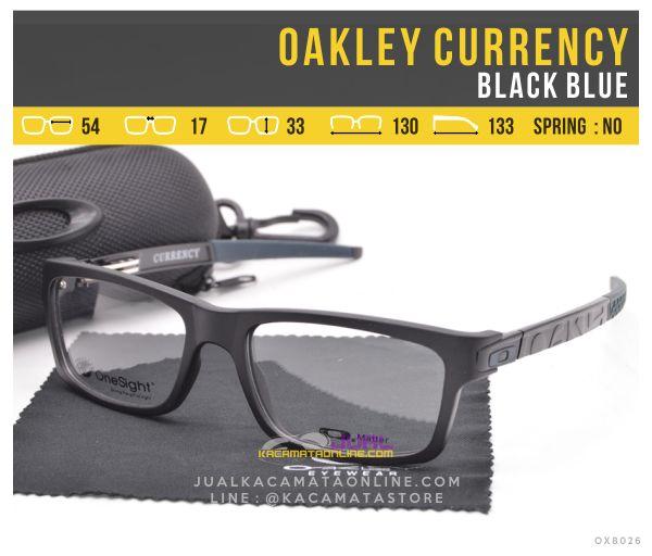 gambar Kacamata Minus Murah Oakley Currency Black Blue