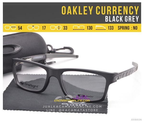 Model Kacamata Minus Murah Oakley Currency Black Grey