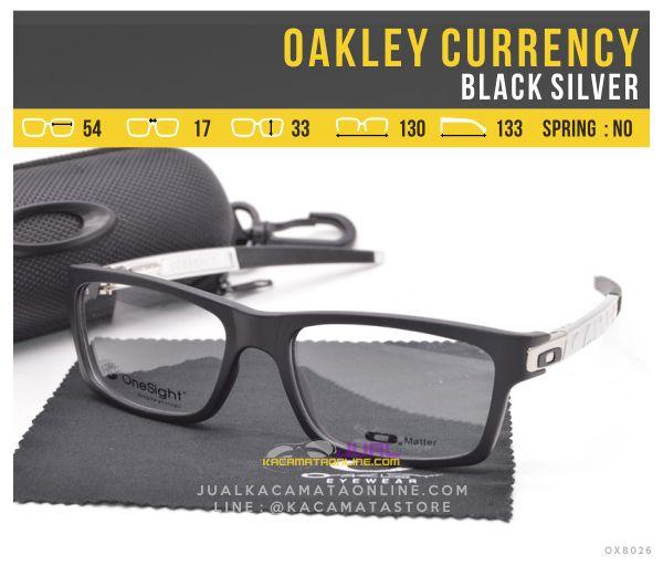 Jual Kacamata Minus Murah Oakley Currency Black Silver