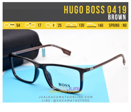 Model Kacamata Minus Pria Terbaru Hugo Boss 0419 Brown
