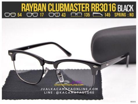 Grosir Kacamata Minus Rayban Clubmaster RB3016 Black