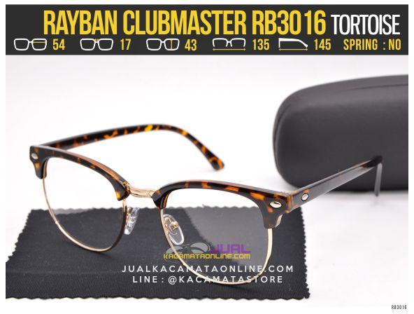 gambar Kacamata Minus Rayban Clubmaster RB3016 Tortoise