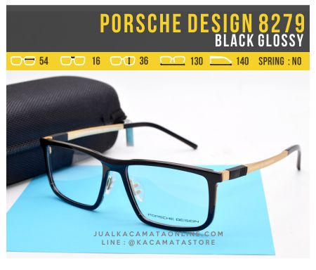 Model Kacamata Murah Porsche Design 8279 Black Glossy