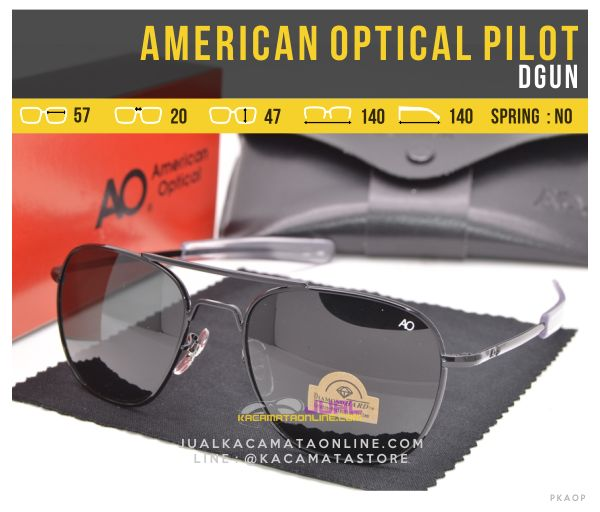 Gambar Kacamata Penerbang American Optical Pilot Black