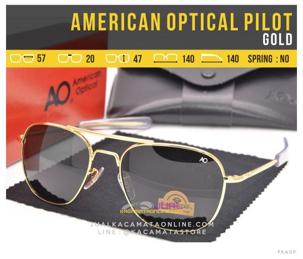 Kacamata Penerbang American Optical Pilot Gold